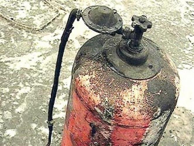 Взрыв газового баллона видео