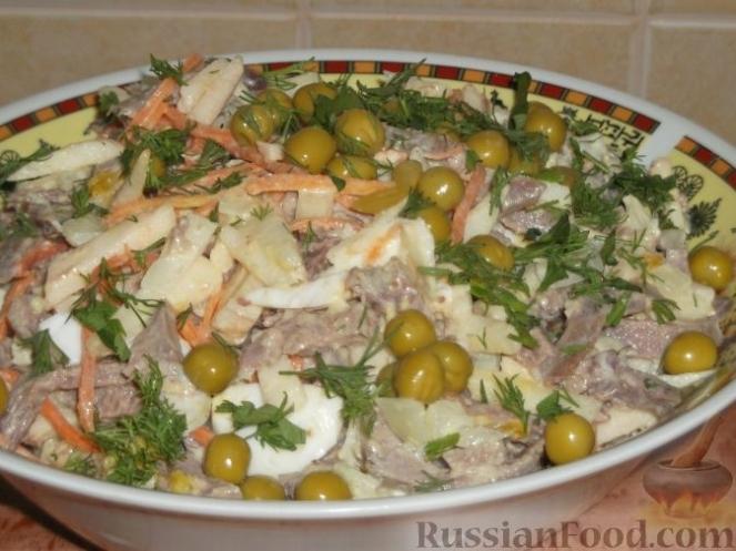 Салат с языком и морковью рецепты с фото